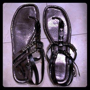 Jessica Simpson Gunmetal Gray Fancy Sandals
